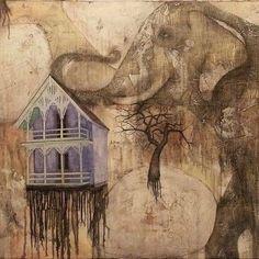In honor of World Elephant Day!!!! #elephants #love #art #instaart