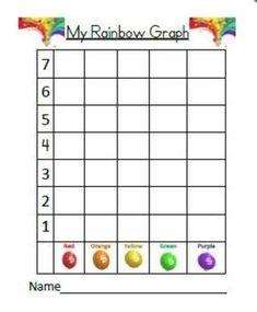 graph the rainbow graphing skittles freebie school math pinterest math school and. Black Bedroom Furniture Sets. Home Design Ideas