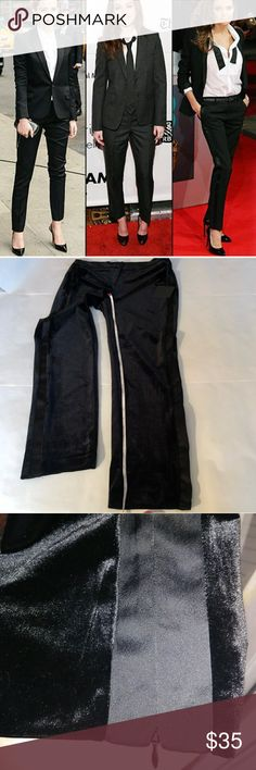 Belle Vere Stylish Velvet Tuxedo Pants w/ Zippers Belle Vere Stylish Black Velvet Tuxedo Pants w/ Zippers on ankles. Super comfy pants that feel like sleep pants. NWOT size small 😎 For pics or ?s Plz 📝 💬 👇*FREE GIFTS & 🎁WRAP W/ PURCHASE! 🚨Plz remeber to: *Share the posh love*make me offers*follow me for comedy relief😜*Plz check out my closet w/ FREE PEOPLE THE JETSET DIARYS SOREL TOO FACED TURQUOISE JEWELRY TIMBERLAND #BOOTS PINK VICTORIA'S SECRET VINTAGE LUCKY BRAND MK MAC ABH #SEXY…