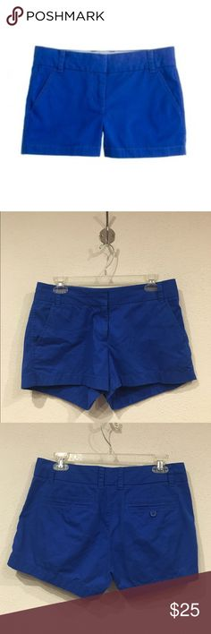 J. Crew blue chino shorts Excellent condition. Inseam: 3 inches. No trades J. Crew Shorts