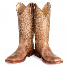 OBSESSED!! Leopard Print Anderson Bean Cowboy Boots