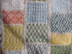 Damask darning on knitted fabric