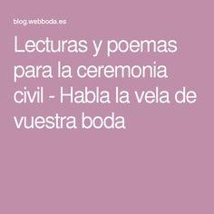 Lecturas y poemas para la ceremonia civil - Habla la vela de vuestra boda