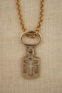 Edinburgh Scotland Antique Key Necklace by ExVoto Vintage Jewelry.