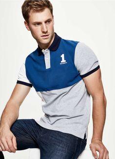 Polo Shirt Style, Polo Shirt Design, Polo Tee Shirts, Polo Rugby Shirt, Shirts For Girls, Motif Polo, Fashion 2020, Men's Fashion, Chemise Fashion