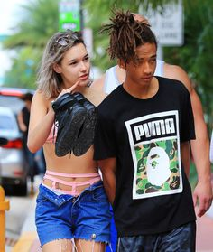 jaden smith with girlfriend