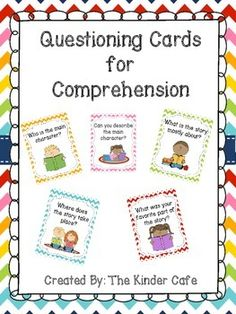Free! Questioning Cards for Reading Comprehension