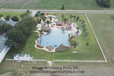 Looks like a resort. Worlds Largest Residential Pool - Houston Swimming Pools in Conroe Texas Mirage Custom Pools Inc. Swimming Pool House, Cool Swimming Pools, Best Swimming, Cool Pools, Lazy River Pool, Pond Water Features, Building A Pool, Pool Builders, Custom Pools