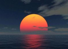 Sunset Over Ocean - Beautiful! More