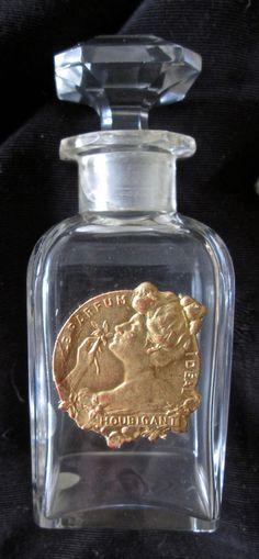 antique Houbigant le Parfum Ideal Baccarat bottle w label in original box