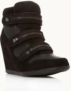 Forever 21 Modernist Wedge Sneakers in Black