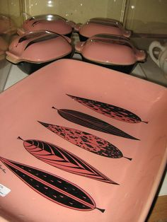 pink and black Fred Press leaves
