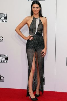 Kendall Jenner is rocking legs for days in this dress.