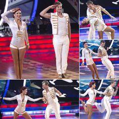 "Dancing With the Stars - Sharna Burgess & Nick Carter ""TeamSharNick"" - danced a jive routine to The Andrews Sisters' ""Boogie Woogie Bugle Boy"" - Season 21 - Week 2 - Night-1 - fall 2015"