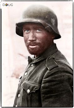 Portrait of a German Army soldier in Stalingrad Russia November Photo: Bundesarchiv Bild Herber. German Soldiers Ww2, German Army, Battle Of Stalingrad, Man Of War, German Uniforms, War Photography, Army Soldier, World War One, Military History