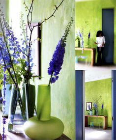 Photography from Tricia Guild's book on using flowers for adding a wow factor in your home.