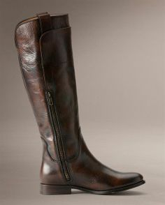 brown leather boots / riding boots / tall leather by DearGolden, $128.00