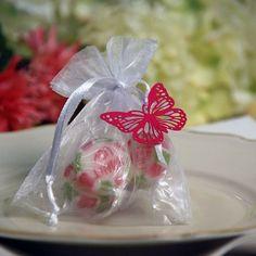 """Gastgeschenk befüllt mit bunten """"thank you"""" Bonbons"""