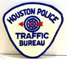 OLd Traffic Bureau patch, pre Herman Short that's before my time-at least there's something I'm too young to remember! Houston Police, Police Uniforms, Police Patches, Law Enforcement, No Time For Me, Badges, Texas, Military, Fire