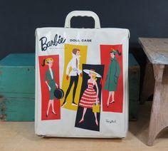 1961 Barbie Doll Ponytail Case . White . Early Barbie Wardrobe Case . Vintage Mattel by 13thStreetEmporium on Etsy