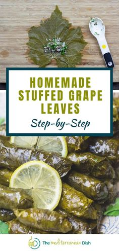 These flavor-packed grape leaves are stuffed with a tantalizing mixture of rice; meat; and loads of fresh herbs and warm spices, then cooked in a bright lemony broth. Vegetarian option included. #stuffedgrapeleaves #grapeleaves #dolmas Vegetarian Recipes Easy, Clean Eating Recipes, Healthy Eating, Cooking Recipes, Healthy Recipes, Easy Recipes, Shrimp Recipes Easy, Vegetarian Options, Grilling Recipes