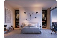 modern Minimalist Walk-in Closet Innovative Design, Cabina Armadio by Porro Bedroom Closet Design, Master Bedroom Closet, Master Bedroom Design, Closet Bedroom, Dream Bedroom, Home Bedroom, Modern Bedroom, Bedroom Wall, Bedroom Decor