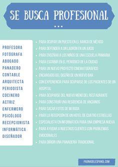 Profesiones by paginadelespanol.com