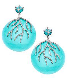 Miriam Salat Ocean CZ Twig Earrings #maxandchloe