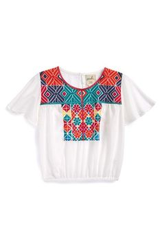 Peek 'Naya' Embroidered Cotton Top (Baby Girls) available at #Nordstrom
