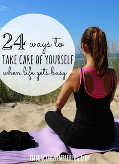 Ways to Take Care of Yourself When Life is Busy Life can be hectic at times, but it's important to not forget about self care. Here are 24 ways to take care of yourself when life is busy! Health Tips, Health And Wellness, Health And Beauty, Health Fitness, Mental Health, Workout Fitness, Healthy Mind, Get Healthy, Vida Natural