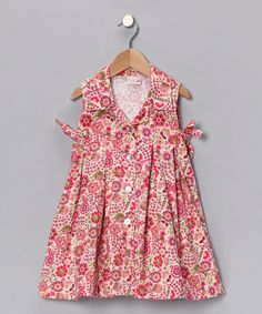 Take a look at this Pink & Green Floral Madeleine Dress - Infant, Toddler & Girls by 4Ever Princess on #zulily today!