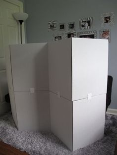 Room Divider Cardboard Boxes Box And Room - Diy cardboard room divider privacy screen