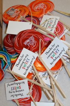 Easy and quick party favors for a kid's birthday party.