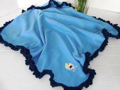 Baby Fleece Receiving Blankets with Pretty Crochet by kamsstorecom, $5.99