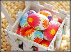 Brown Paper Packages: Decoupaged Springtime Eggs