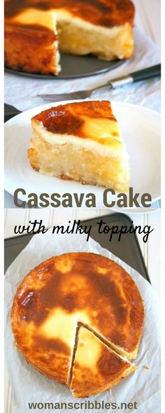 Cassava Cake is a filling dessert made of a starchy tuber, the cassava. This easy to make cake is a classic favorite that is always present in Filipino gatherings and feasts. This cassava cake is appropriately sweet with notes of cheddar cheese and milk, and a whole load of the filling, tasty cassava meat.