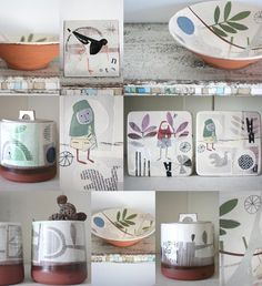 I have to start this week with some amazing ceramics by Karen McPhail who had sent me an email telling me about her work. I absolutely love the contemporary style printed decals. The tile below with the bird calls my...