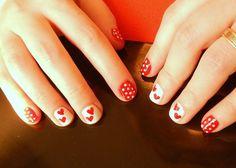 Polka dots & hearts Latest Nail Designs, Saga, Polka Dots, Hearts, Nails, Finger Nails, Ongles, Polka Dot, Nail