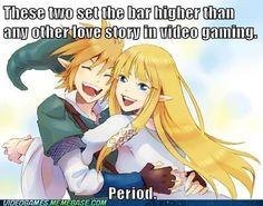 its true. Link and Zelda...<3