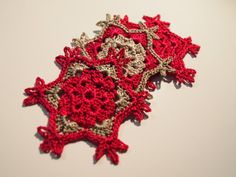 Crocheted decoration  Snowflake 3 pcs  FREE by Handicraftshed, €7.00