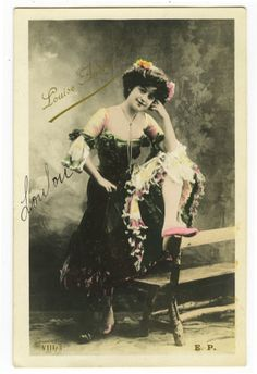 c-1904-Vintage-SEXY-DANCER-Legs-Cabaret-Can-can-French-photo-postcard