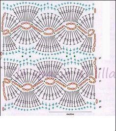 lo spazio di lilla: Punti crochet e ai ferri, perfetti anche per copertine da neonato