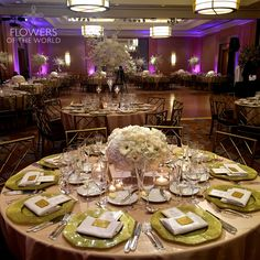 Featuring Our Signature Low And Lush Tall Arrangements In The Ballroom Of Ritz Carlton Battery Parkballroomspark