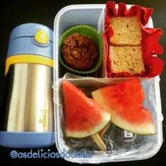 Melancia + cookie + sanduiche