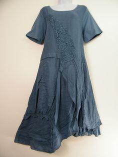 Ample 100% Lin Italien Manche Courte Robe Été en 6 Couleurs Taille 12-18 in Vêtements, accessoires, Femmes: vêtements, Autres | eBay