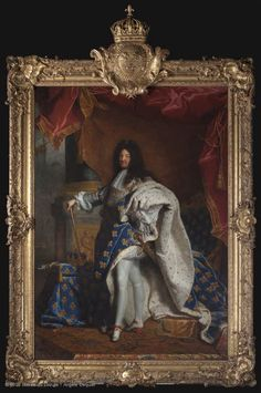 Hyacinthe Rigaud - Portrait of Louis XIV Louis Xiv, Fra Angelico, Art Occidental, Louvre Paris, French Royalty, French History, Classic Paintings, Bourbon, French Artists