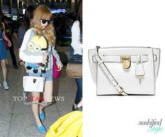 Image discovered by TAEYEON CANDY BOX. Micheal Kors Crossbody Bags, Snsd Fashion, Hollywood Celebrities, Your Style, Celebrity Style, Satchel, Michael Kors, Fashion Trends, Hamilton