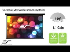 #MotorizedScreen | #Spectrum_Series. A quick overview of the features on Elite Screens Spectrum Series @ elitescreen.com