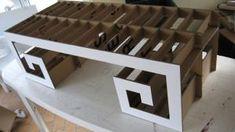 Table basse japonaise en carton ! - meubles en carton marie krtonne