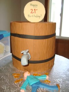 Beer Barrel Birthday Cakes